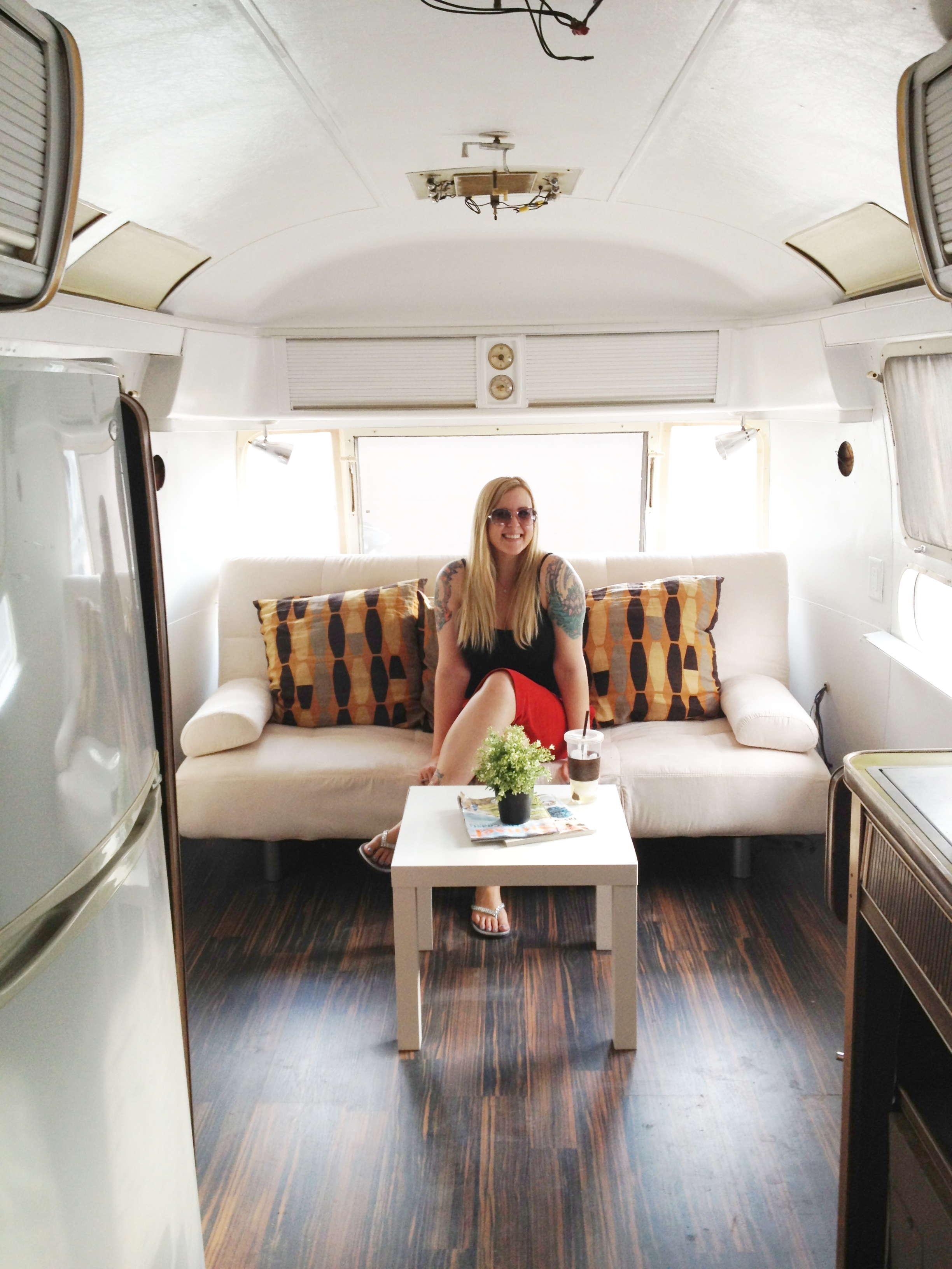 Airstream bathroom renovation