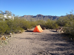 you can tent camp at gilbert ray