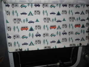 Love this window covering in Watsons Wander airstream