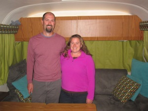 Tim and Amanda from Watsons Wander airstream