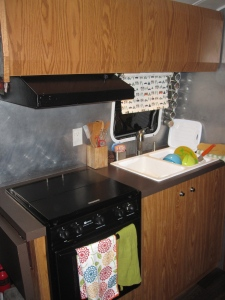 kitchen in Watsons Wander airstream