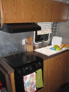 kitchen in Watsons Wander airstream