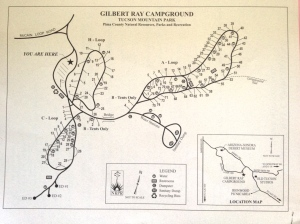 Gilbert Ray Campground map