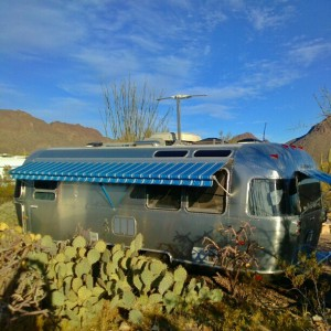 malimish airstream at Gilbert Ray campground